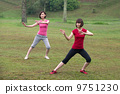 asian girls tai chi.outdoor , chinese women 9751230
