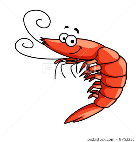 happy prawn or shrimp with curly feelers  u0e20 u0e32 u0e1e u0e1b u0e23 u0e30 u0e01 u0e2d u0e1a u0e2a u0e15 u0e47 u0e2d u0e01 Small Fish Clip Art Small Fish Clip Art