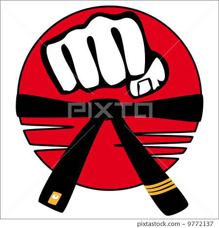 Stock Illustration: Fist set martial arts