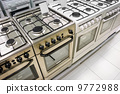 home appliance  store, row of gas stoves 9772988