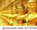 Row of buddha statue in grand palace 9779744
