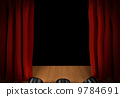 curtain, theater, stage 9784691