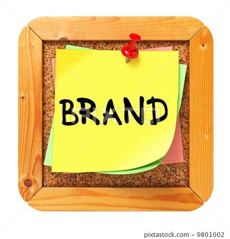 Brand. Yellow Sticker on Bulletin. 9801002