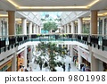Inside of mall 180 degree view 9801998