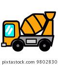 팝업 귀여운 믹서 트럭 9802830