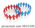 Circle of people 9803185