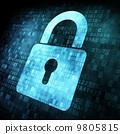 digital, security, padlock 9805815