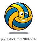 Happy colourful bouncing volleyball ball 9807202