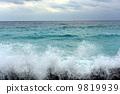 The sea, wave of Niijima 9819939