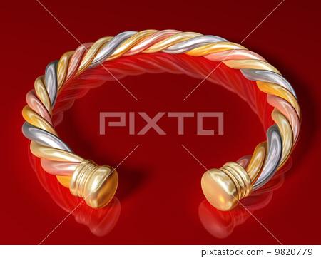 Gold Twist Bangle 9820779