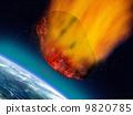 Plummeting asteroid 9820785