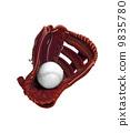 Baseball glove isolated on white 9835780