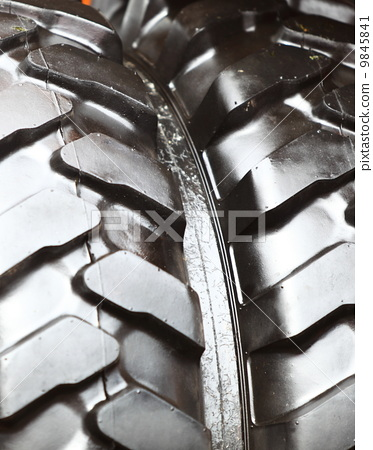 Detailed view of heavy vehicle new tire texture 9845841