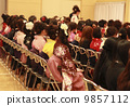 Female college students in a fine school at the graduation ceremony 9857112