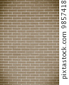 Brown brick wall as background or texture 9857418