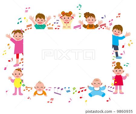 小孩 音乐 较年轻-图库插图 ...