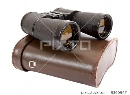 Russian army field binocular and field bag 9860947