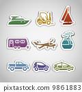 forklift set car 9861883