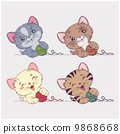 vector cartoon cats set 9868668