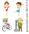 triathlon, club activity, illustration 9872171