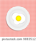 蛋 油炸的 插畫 9883512