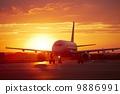 飞机 机场 跑道 9886991