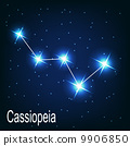 "The constellation ""Cassiopeia"" star in the night sky. Vector ill 9906850"