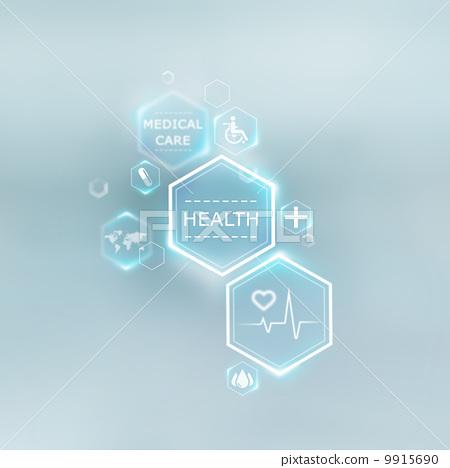 Medical background of symbols 9915690