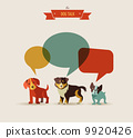 Dogs speaking - icons and illustrations 9920426