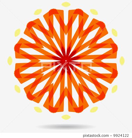 Vector eco icon , flower design element. 9924122