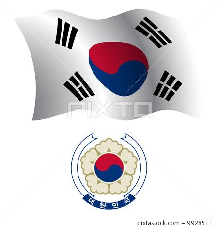 south korea wavy flag and coat 9928511