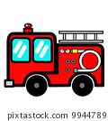 流行的可愛消防車 9944789