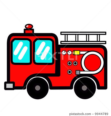 Cute fire engine in pop 9944789