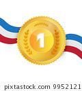 Gold Medal, Award Isolated on White Background 9952121