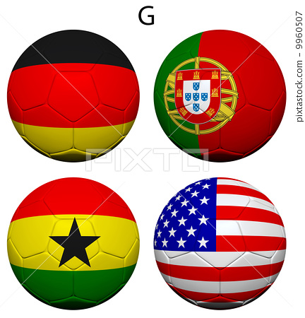 Soccer Championship 2014 Group G Flags 9960507