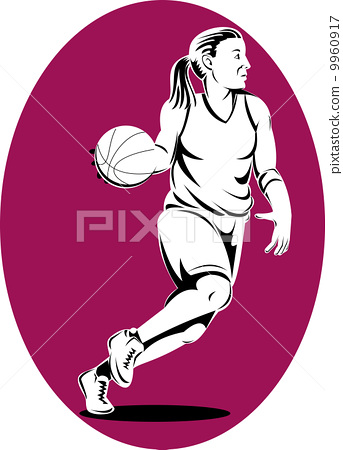 basketball player dribbling ball 9960917