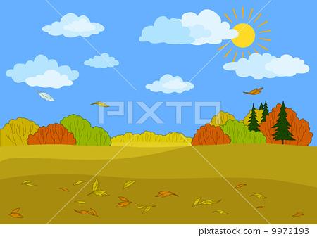 Autumn forest landscape 9972193