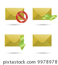 Set of icons four envelopes 9978978