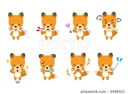 狐狸狐狸狐狸動物姿勢面部表情 9988502