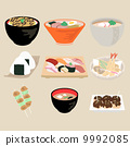 vector, japanese food, japanese cuisine 9992085