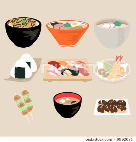 vector, vectors, japanese cuisine 9992085