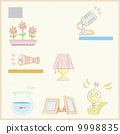 illustration set related to items in the house 9998835
