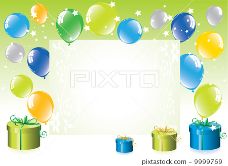 festive balloons and gift boxes 9999769