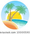 太陽 夏天 夏 10000590