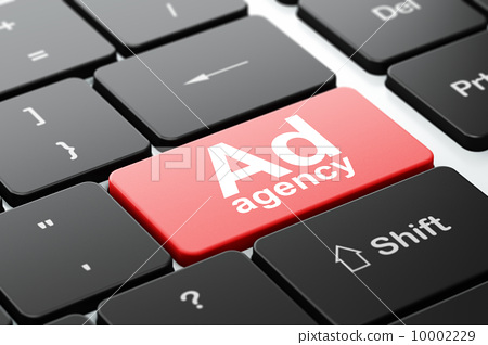 Marketing concept: Ad Agency on computer keyboard background 10002229