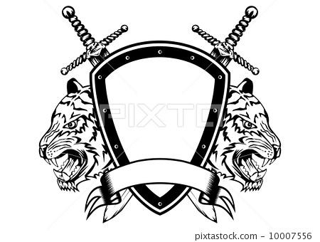 board sword and tiger head 10007556
