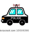 流行和可愛的警車 10009396