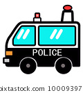 流行和可愛的警車 10009397