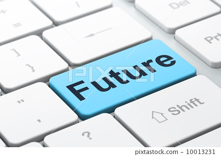 Timeline concept: Future on computer keyboard background 10013231