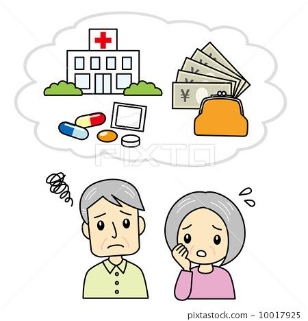 遭受医疗费用的一对老夫妇 10017925